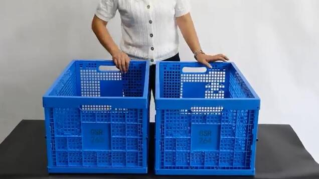 Foldable Feature Plastic Crate