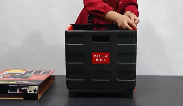 Plastic Folding Tie Bar Box