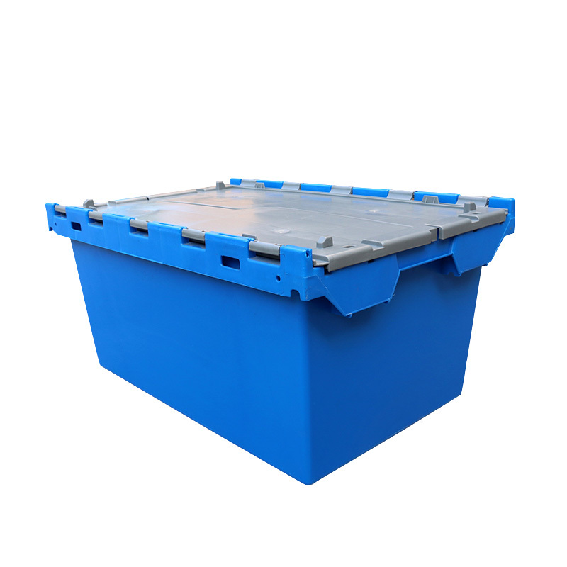 Plastic Attached Lid Containers for Moving 700