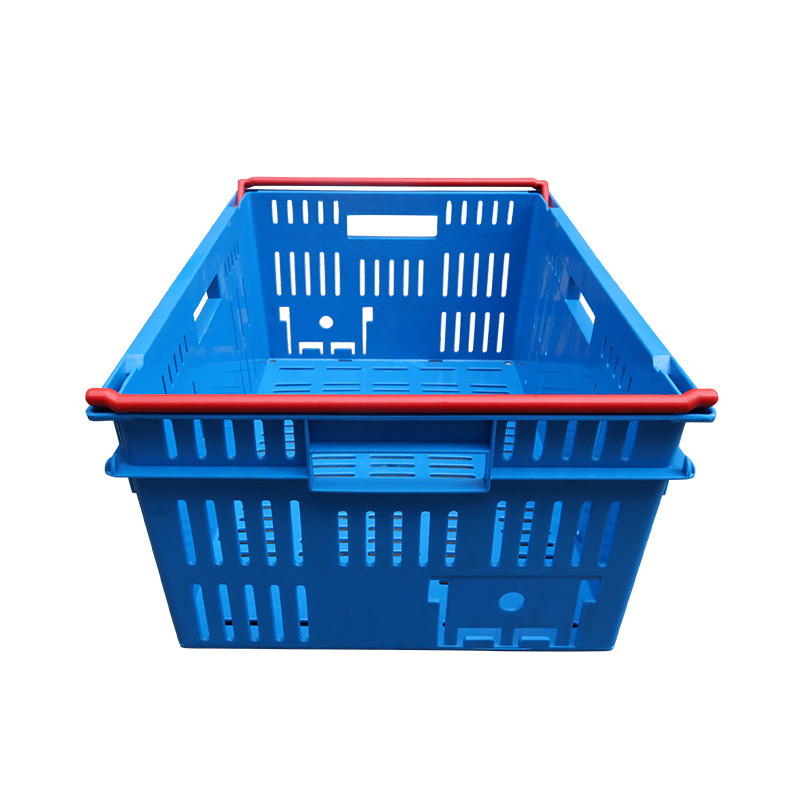 Plastic Nestable  stackable vented crate 6424