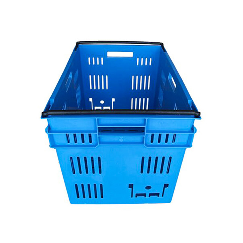 Plastic Nestable  stackable vented crate 6439
