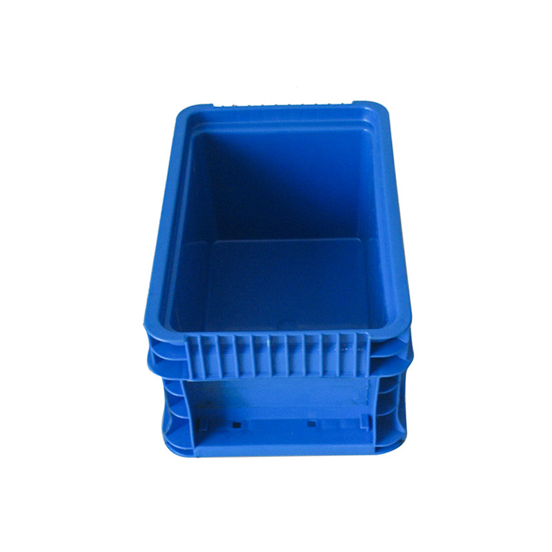 Plastic blue stackable crate for storage parts EU-A