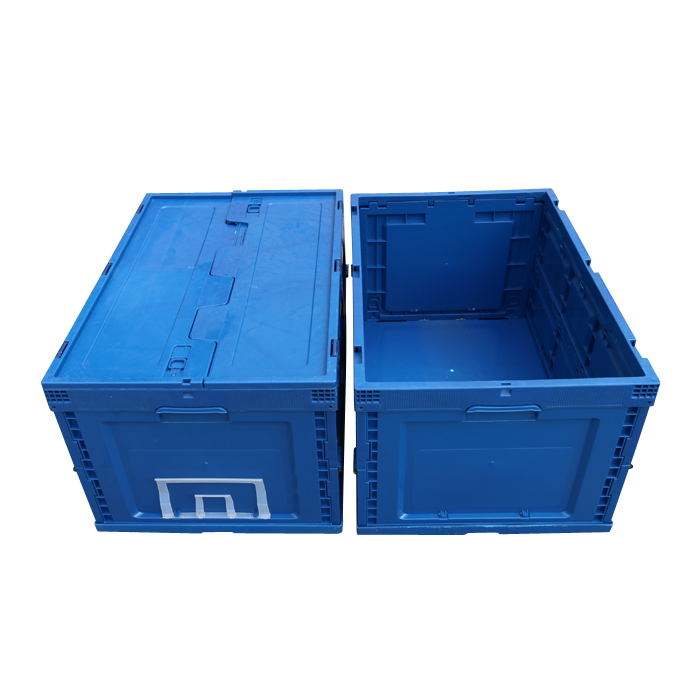 Plastic Foldable and Stackable Storage Boxes/Crates with Lid