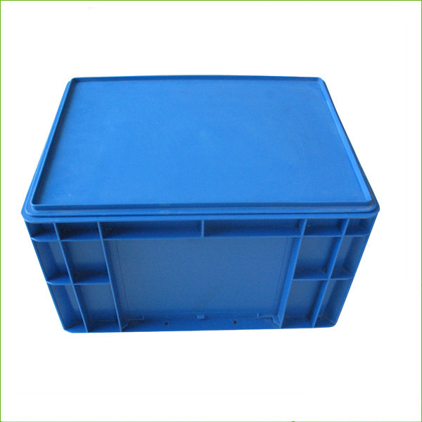 Plastic blue storage stackable crates EU4322