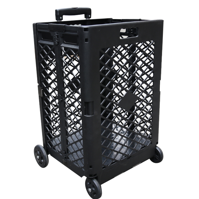 High Quality Mesh Style Plastic Shopping Trolley With Good Price For Sale