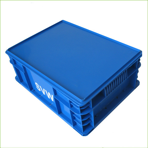 Plastic blue stackable storage crate EU-B