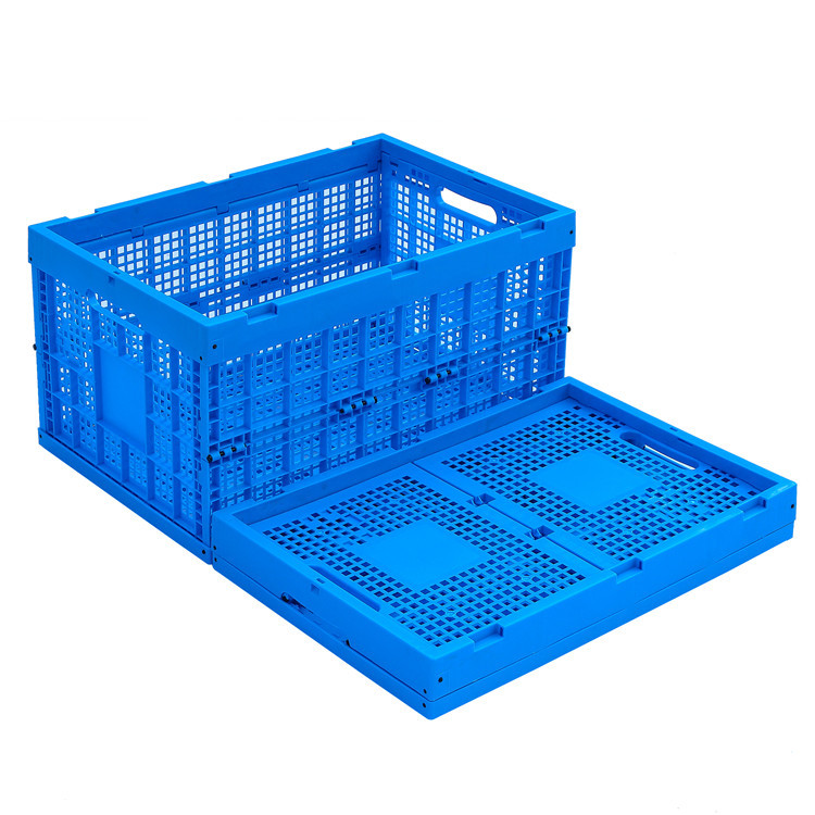 Plastic Durable Foldable Storage Crates Industry Cube Basket