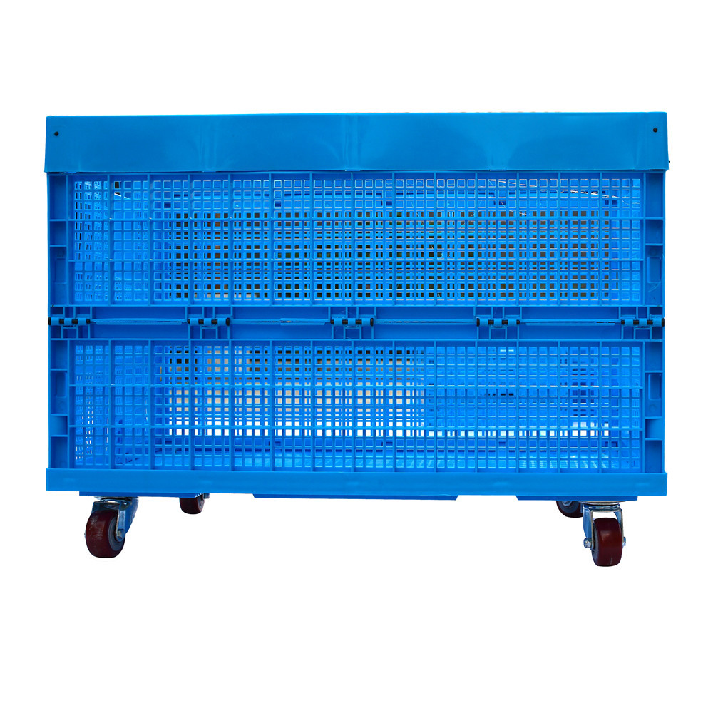 Plastic Storage Folding Large Box Industrial Use Collapsible Crate