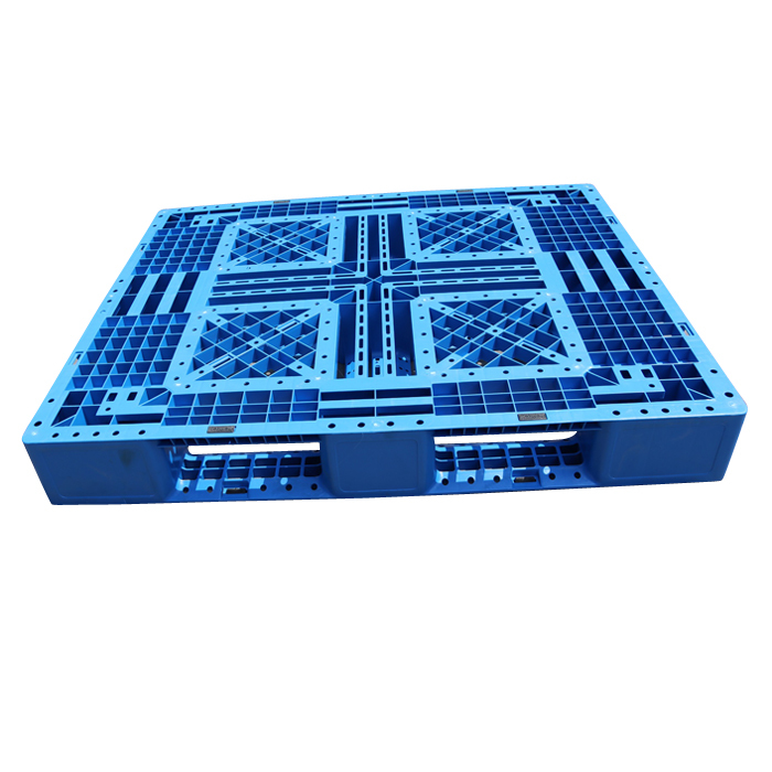Grid Deck Plastic Stackable Transport Packing Pallets For Warehouse Shelves