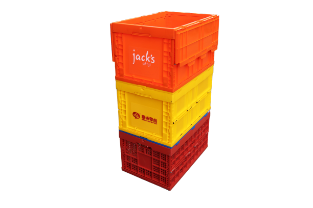 plastic foldable vented crates